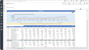 Ejemplo del informe de pérdidas y ganancias de 13 meses